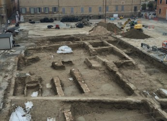 Ravenna, piazza Kennedy: a inizio ottobre la fine delle indagini archeologiche e la ripresa dei lavori nell'area di Sant'Agnese