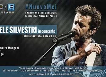 Daniele Silvestri apre il live del #NuovoMei2016 di Faenza. Evento esclusivo, gratuito, a sigillo d' un ventennio.