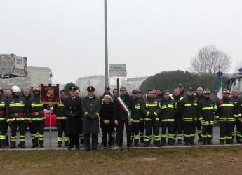 Rimini, Intitolata ai Vigili del Fuoco la rotatoria sulla Statale 16 Adriatica con via Rosmini