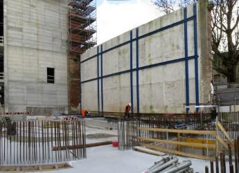 Rimini, Ricostruzione del Teatro Galli: dopo la traslazione tornano nella posizione originaria le pareti storiche del teatro polettiano