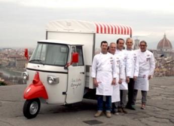 Eccellenze italiane. Arriva per le strade l'Ape-gelateria di Street Foody. Solo chi è bravo, sfonda.