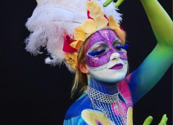 Emilia Romagna. Fusignano: mostra d'immagini a 'Il granaio' dedicata al Body Painting.