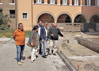 Emilia Romagna. Cesena. Sta prendendo forma la nuova piazza della Libertà. Sopralluogo al cantiere.