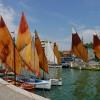 Bellaria Igea Marina. Raduno di barche storiche:  a fare gli onori casa il bragozzo 'Teresina'.