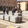 Cesena.  Beola e granitello sono arrivati. Al via la pavimentazione di piazza della Libertà.