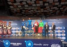 Ravenna. Domenico Piccinini, oro ai Mondiali master di lotta greco-romana a Plovdiv, in Bulgaria.