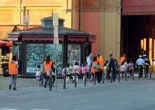 Lugo di Romagna. Gli studenti del  'San Giuseppe' alla scoperta della loro città con il Piedibus.