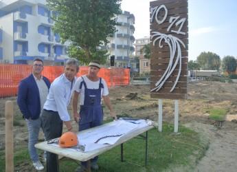 Rimini. Riqualificazione Bagni 70 e 71, il sindaco Gnassi in visita allo stabilimento di Torre Pedrera.