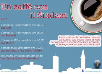 San Mauro Pascoli. In partenza l'iniziativa 'Un caffè con il Sindaco'. L'incontro con i Cittadini.
