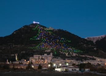 Gubbio ( Umbria). Un record eugubino:  suo infatti è l'albero di Natale più grande del Mondo.
