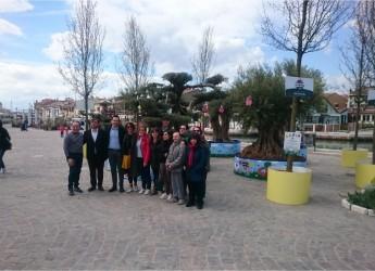 Cesenatico. Inaugurato in piazza Ciceruacchio  ' L'ulivo e il mare'. Nuovo giardino pasquale.