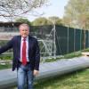 Cotignola. Nuovo impianto di illuminazione con la copertura della tribuna dello stadio 'Dal Monte'.