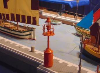 Cesenatico.Diorama del porto canale ( scala 1:25), con le barche del Museo della Marineria.