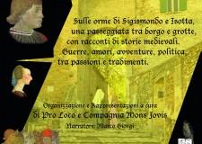 Santarcangelo d/R. 'Sigismondo, lupo di Rimini'. Orme di Sigismondo e Isotta, tra borgo e grotte.