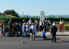 Cesena. 74° anniversario dell'eccidio del ponte di Ruffio. Una corona d'alloro per non dimenticare.