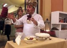 Lugo. Al ristorante ' Il trebbo' nuovo incontro con  il comico Vito per ' Una cena a casa Rossini'.