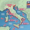 3B METEO.COM: 'Ciclone sull'Italia, con forti piogge, burrasche di vento e possibili eventi alluvionali'.
