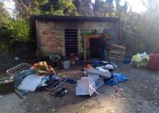 Rimini. Parco Marecchia: bonificato dalla Polizia municipale l'ex spogliatoio del campo da tennis.