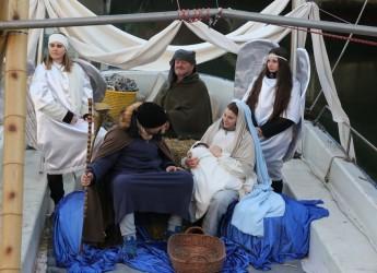 Rimini. L'Epifania sul Ponte dei miracoli. Il corteo navale e l'arrivo dei Re Magi con i loro doni.