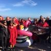 Riccione. Tuffo di Capodanno. Oltre cento coraggiosi per il primo bagno 2019 in mare.