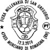 Morciano di Romagna. Uno speciale 'annullo postale' per la millenaria fiera di San Gregorio.