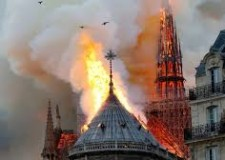 Non solo sport. Brucia la Cattedrale, ma non le sue ' radici cristiane'. Cara Signora, ma 'quella'  fa per te?