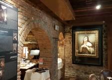 Santarcangelo d/R. Quattro opere del Cagnacci tornate a casa. All' osteria ' La Sangiovesa'.