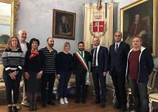 Lugo. Cerimonia di proclamazione per Davide Ranalli, riconfermato sindaco della città romagnola.