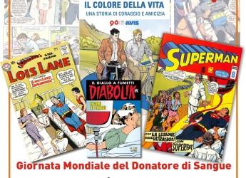 Forlì. Alla 'Calle': 'Giornata mondiale del donatore di sangue'.'Donare è un bene e il fumetto lo sa!'.