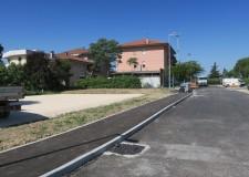 Santarcangelo d/R. Ultimato il parcheggio in via Lenin Mancuso. A giorni la stesura dell' asfalto.