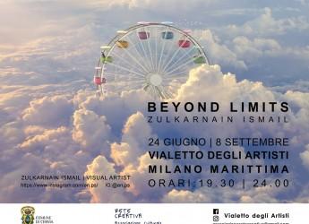 Milano Marittima. Mondi fantastici e immaginari. La mostra 'Beymond limits' al Vialetto degli artisti.