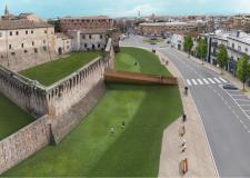 Rimini. Ha preso avvio il III stralcio del Museo Fellini. L'area dell'antico fossato intorno al Castello.
