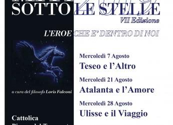 Cattolica. Miti sotto le stelle, settima edizione della rassegna:  'L'eroe che è dentro di noi'. I miti greci.