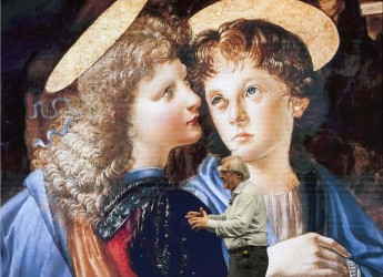 Cotignola. Leonardo da Vinci  e Vittorio Sgarbi  'in scena' il 23 luglio, nel Giardino del teatro 'Binario'.