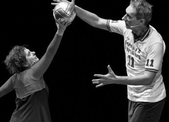 Bagno di Romagna. Al teatro delle Terme ' La leggenda del pallavolista volante'. Teatro e sport insieme.