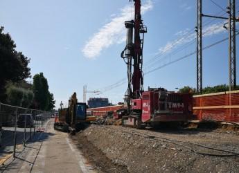 Rimini Nord. Iniziata la posa dei primi 40 micropali dei tremila necessari per allargare l'asse stradale.