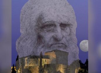 """Cesena. 'Leonardo a Cesena',  dal romanzo 'Il nero e il bianco"""" di Spazzoli. Al chiostro San Francesco."""
