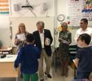 Forlì. Il sindaco Zattini e gli assessori Casara e Cicognani alla ' Alighieri' per il primo giorno di scuola.