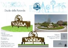 Rimini. Un Tritone, una Conchiglia  'simboli' di Viserba. Una struttura di arredo percorrendo via Beltramini.