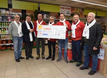 Cesena. Dieci Conad a sostegno dell'Avis. Oltre 2mila euro raccolti nel weekend Telethon.