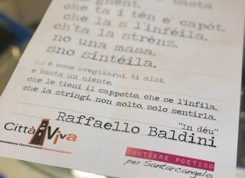 Santarcangelo d/R. Poesie d'amore in vetrina. Per il giorno di S.Valentino, dedicato alle coppie.