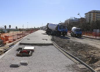 Rimini. A pieno ritmo i cantieri del Parco del mare. La nuova, attesissima passeggiata sta prendendo forma.