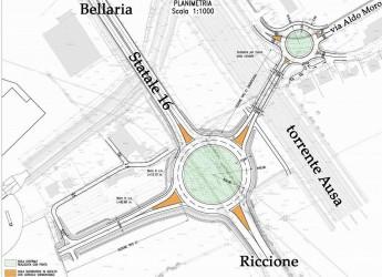 Rimini. Apre la rotonda Padulli sulla SS 16. Dove a breve è  prevista la piena circolazione dei veicoli.