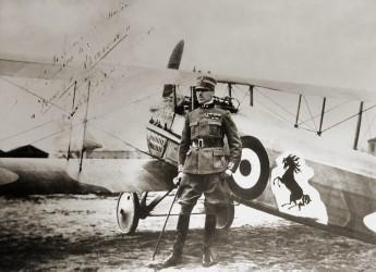 Lugo. Il ricordo di Francesco Baracca a 102 anni dalla morte. Con omaggio agli assi dell'aviazione azzurra.