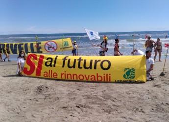 Ravenna. Goletta Verde 2020: no al CCS Eni a Ravenna, sì all'eolico off-shore di fronte alla costa riminese.