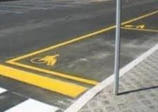 Lugo. Ripristino della segnaletica orizzontale dei parcheggi a pagamento nel centro storico.