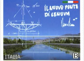 Genova. Emesso un francobollo ordinario dedicato al nuovo ponte titolato: 'Genova San Giorgio'.