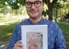 Lugo. Aperitrisi letterari in Biblioteca. Enzo Venturini con l' ultimo  romanzo 'Quarantatré secondi'.