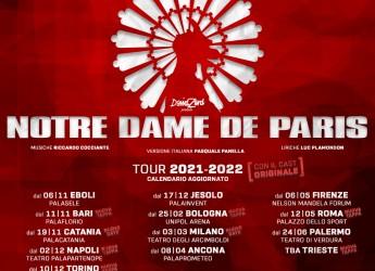 Italia. Tour 2020 di Notre Dame de Paris, che torna nei nostri teatri con un calendario tutto nuovo.
