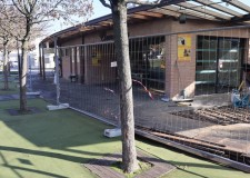 Santarcangelo d/R. Campo della fiera. Partono i lavori di ampliamento della struttura destinata a bar.
